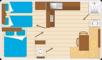 Mobil-Home Classic 4 personnes plan