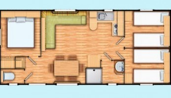 Mobil home Grand Confort - 6/8 personnes plan
