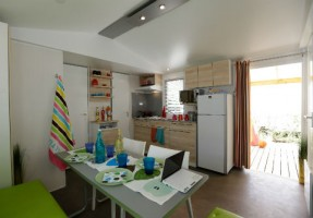 Mobil home Grand Confort - 6 pers 3ch salon